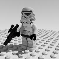 3d stormtrooper lego