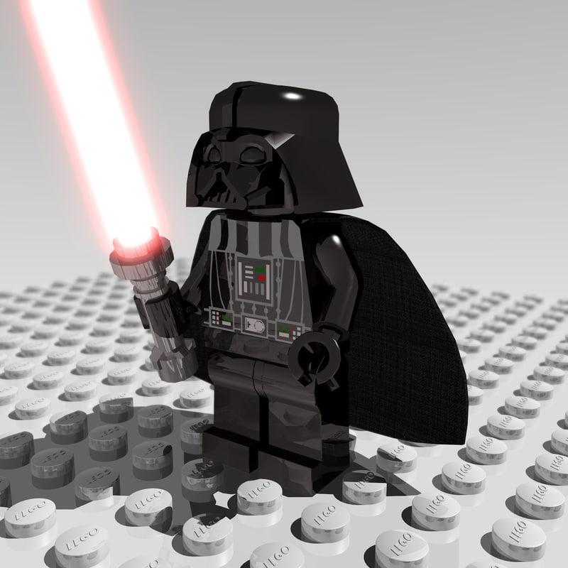 obj darth vader lego