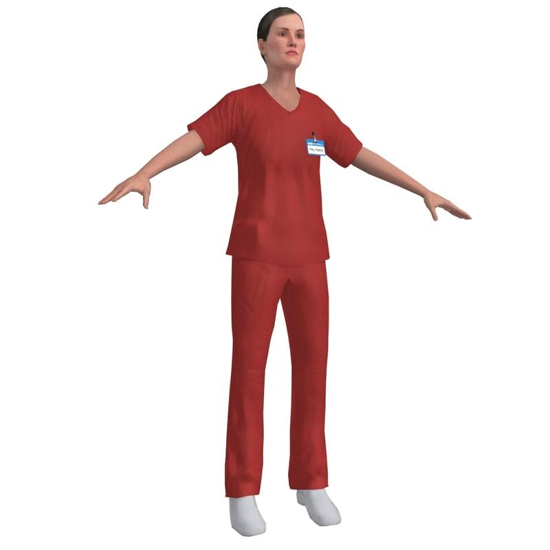 nurse 3d max