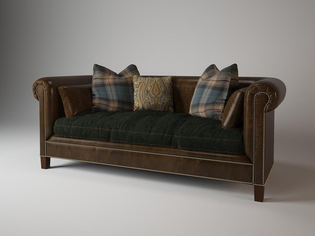 Ralph Lauren Brompton sofa 911-01 - Sofa 911-01 Ralph 3d Max