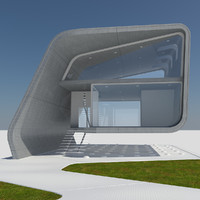 3d model of futuristic housing 1 modern
