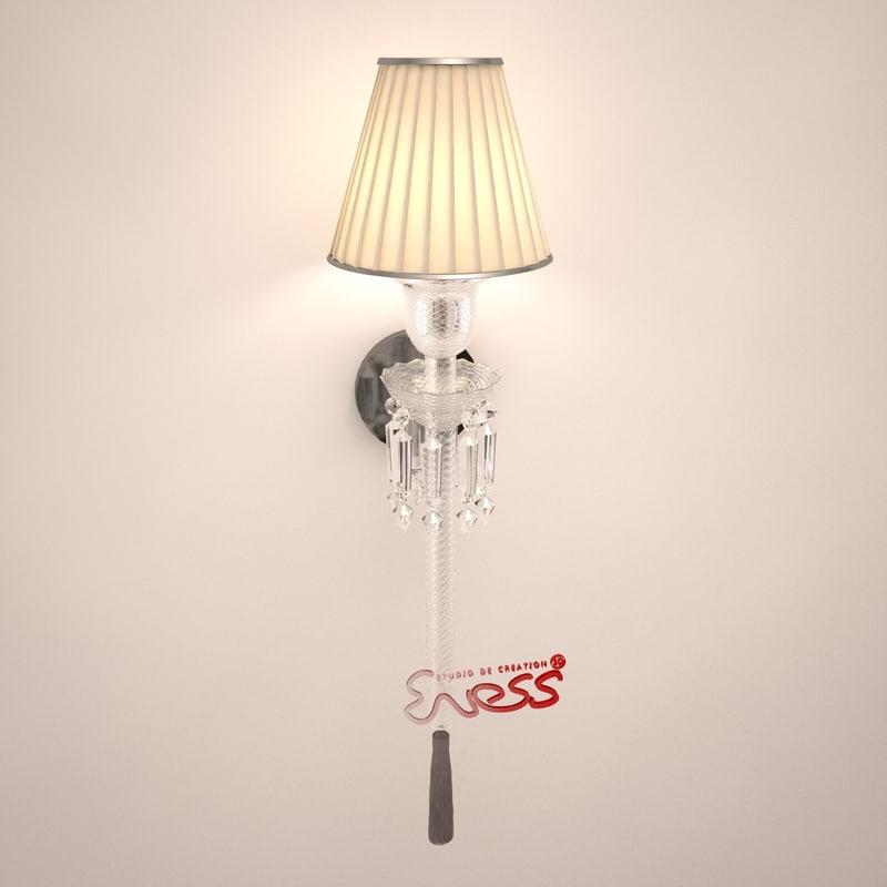 wall lamp torch 3d max