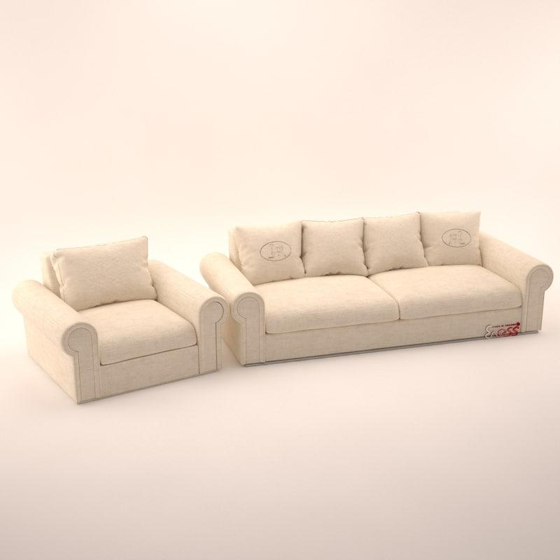 sofa hermitage 3d model
