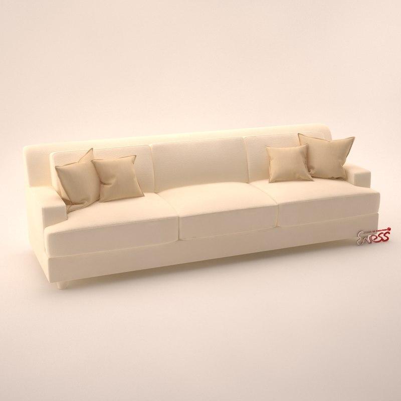 sofa pasha baker 3d max