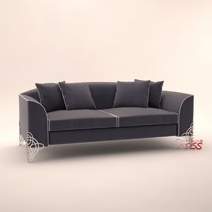 3d model alexandra design sofa regina