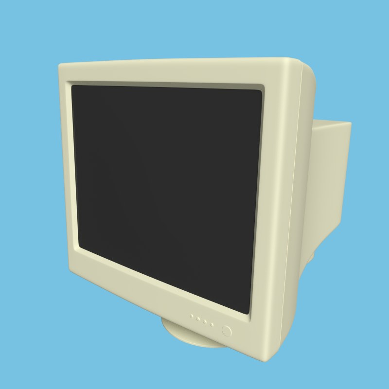 crt monitor 3d dxf