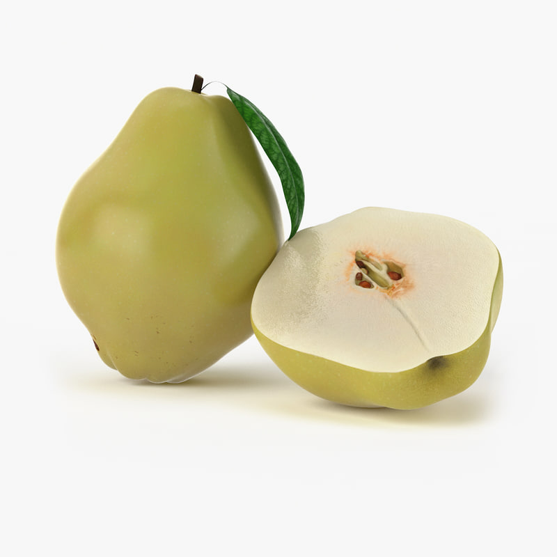 realistic quince fruit real 3d max