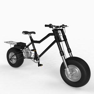 3d model of bike electric