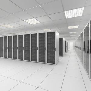 3d server room model