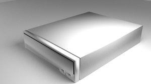 computer dvd-rom player 3d model