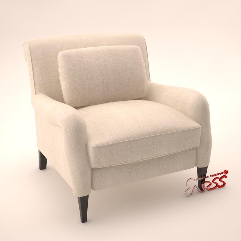 armchair 504 3d obj