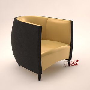 armchair africa alexandra design studio 3d model