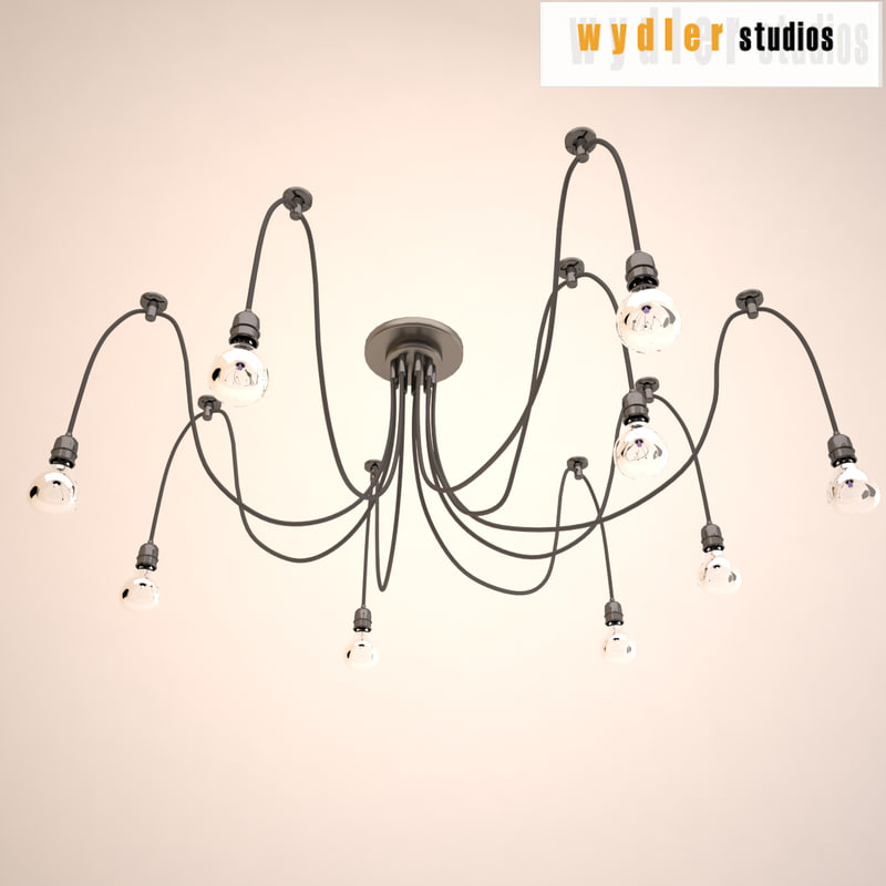 3ds chandelier lighting