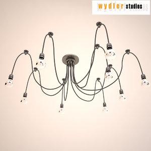 3ds chandelier lighting