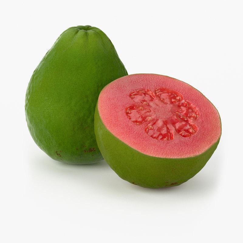 realistic guava fruit real 3d max