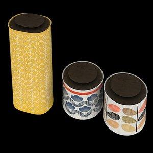 orla kiely storage jars 3d model