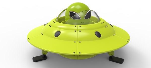 ufo spaceship figure 3d model