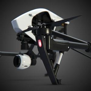 3d quadrocopter dji inspire quads model