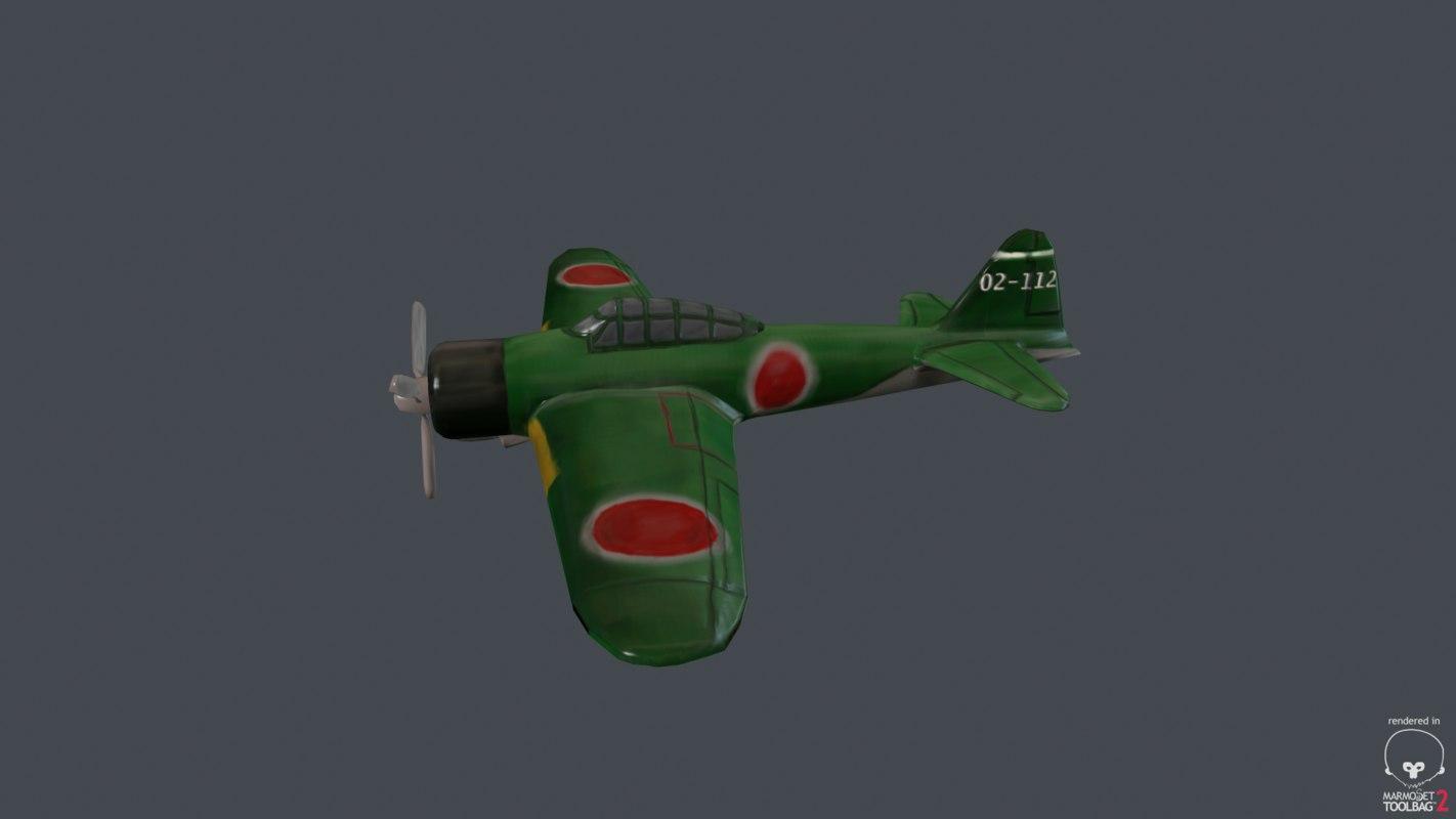 hand painted plane zero 3ds