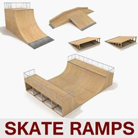 Skate Ramp Half Pipe Fun Box Skateboarding Element Collection A