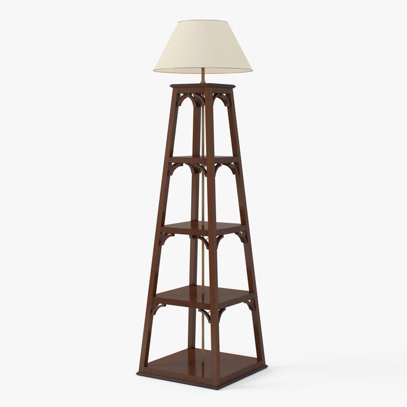 3d model floor lamp amclassic -