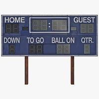 3d football scoreboard