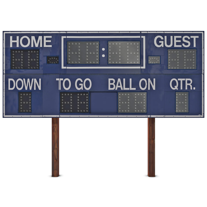 Football Scoreboard Template  BesikEightyCo