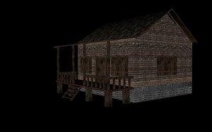 old house 3d fbx