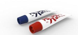 small glue tube 3d obj