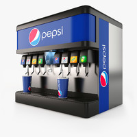 cola fountain 3d obj