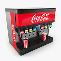 cola fountain 3d model