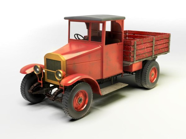 soviet pick-up truck 3ds