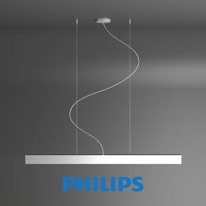 free lamp pendants aluminium 1x28w 3d model