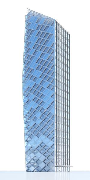 contemporary skyscraper 3d max