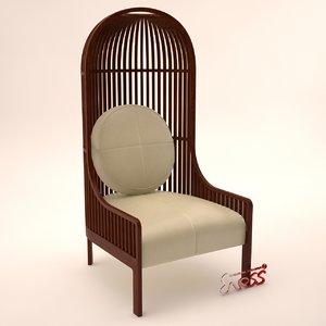 3d model armchair autoban nest lounge