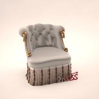 3ds armchair henriot pozzoli pr6236