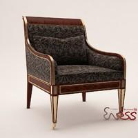 3ds max armchair baker russian regency