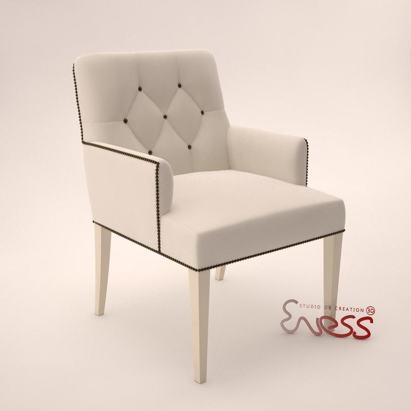 3d model armchair baker st germain