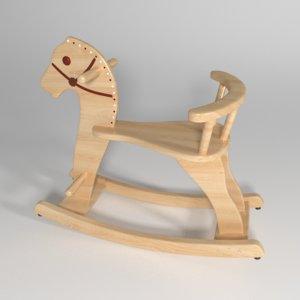 3d model of horse balance