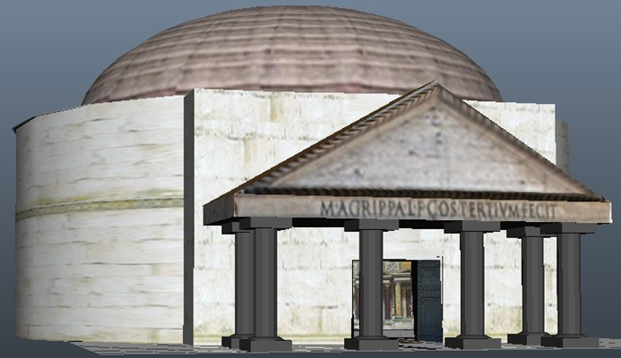free fbx model pantheon rome