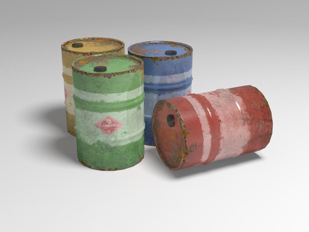 max oil barrel 4 colours