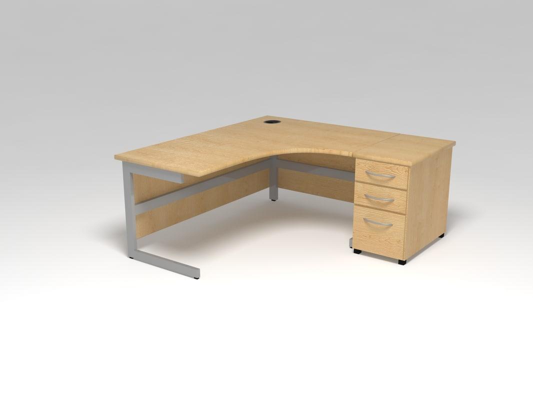 desk cabinet file 3d max