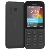 nokia 215 black 3d 3ds