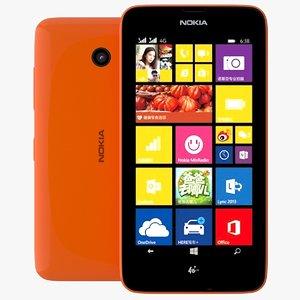 3d nokia lumia 638 orange