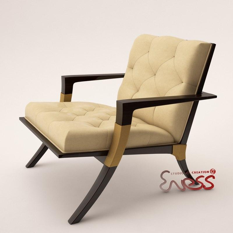 3d armchair baker athens lounge