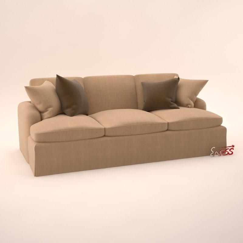 3d sofa rudin 2496 model