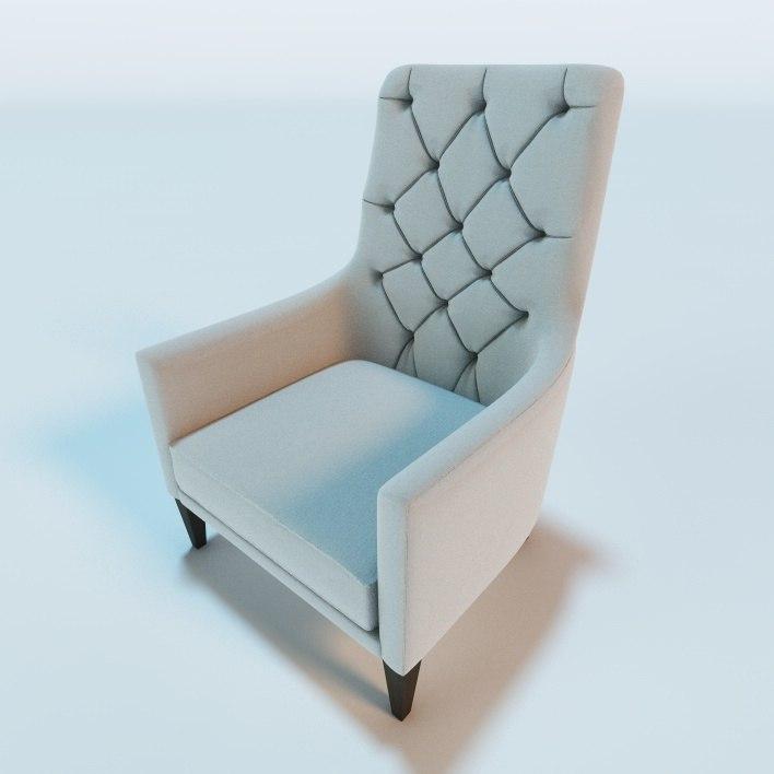 3d rotunda 315 lounge chair model