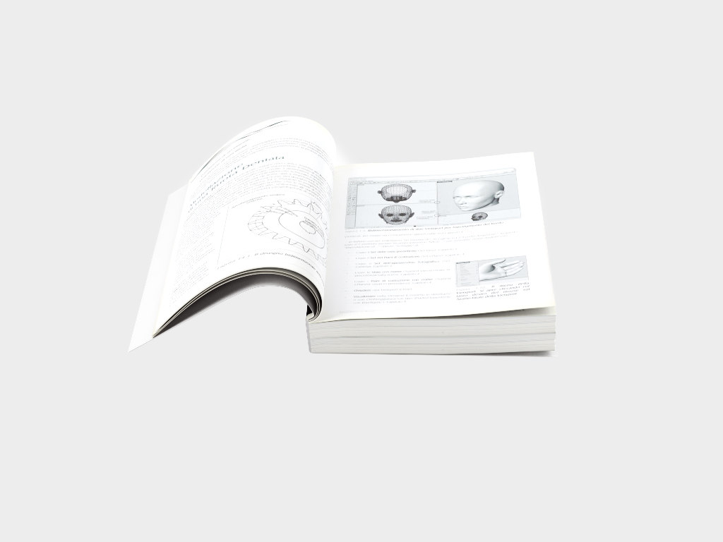3d model open book 6 7