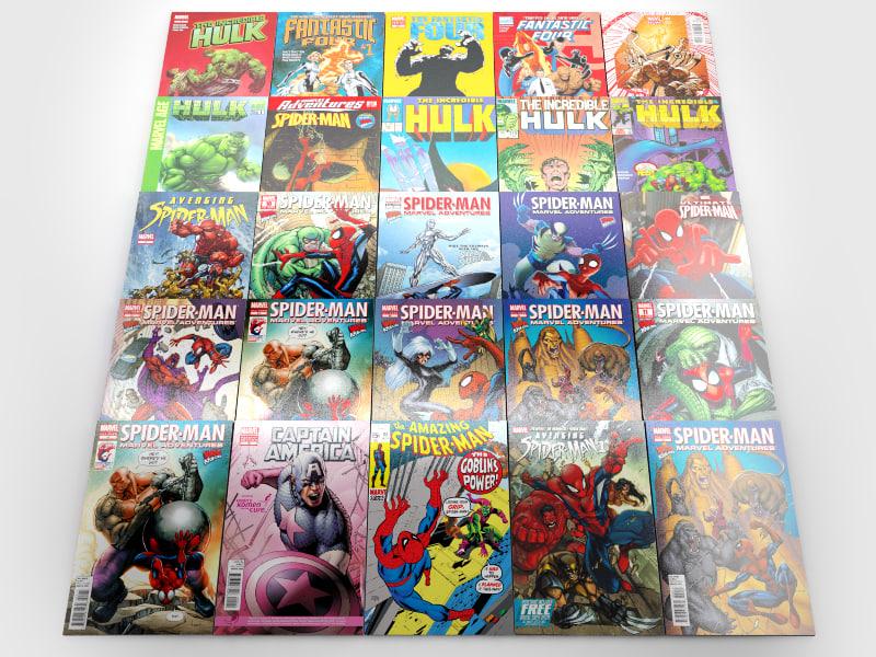 comics 7 3d model