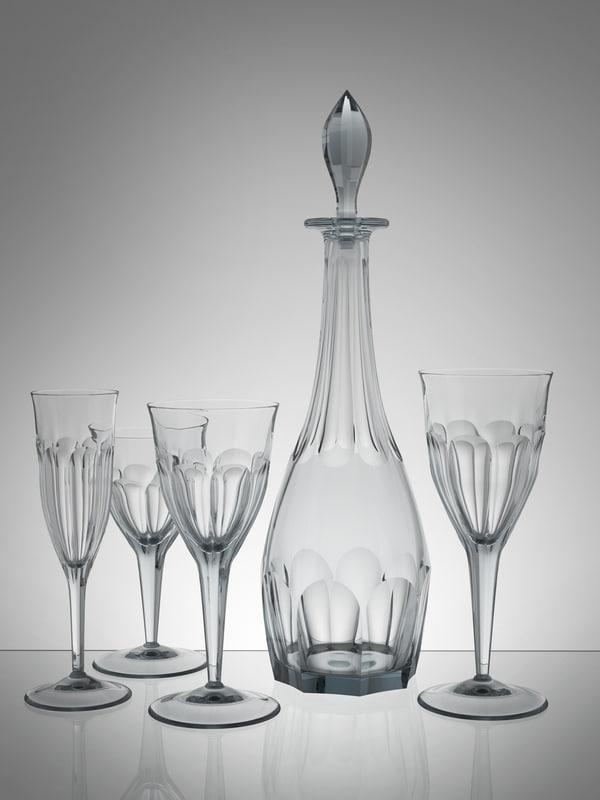 3d glasses carafe model